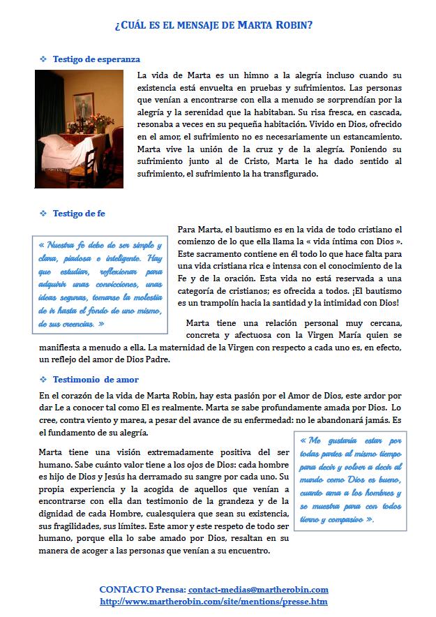 Dosier de prensa Marta Robin venerable 11