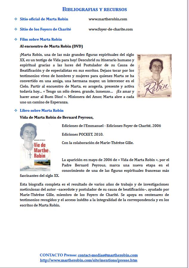Dosier de prensa Marta Robin venerable 12