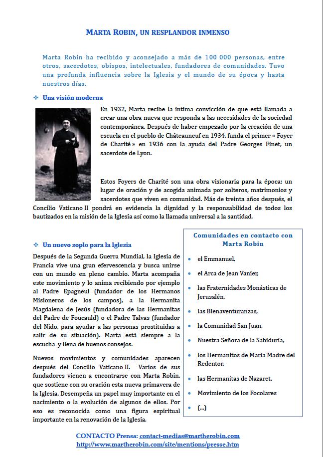 Dosier de prensa Marta Robin venerable 7